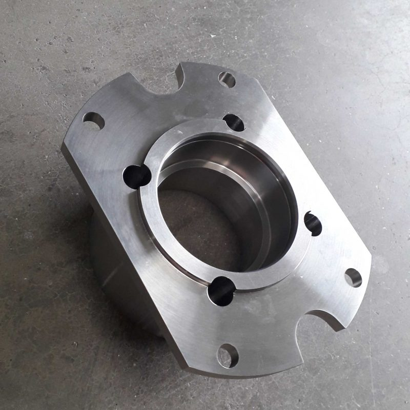 CNC-MACHINED-GUIDE-BUSH-MOUNTS-DORCHETSER-DORSET-plastic-guide-bush-housing-machined-from-304-stainless-steel