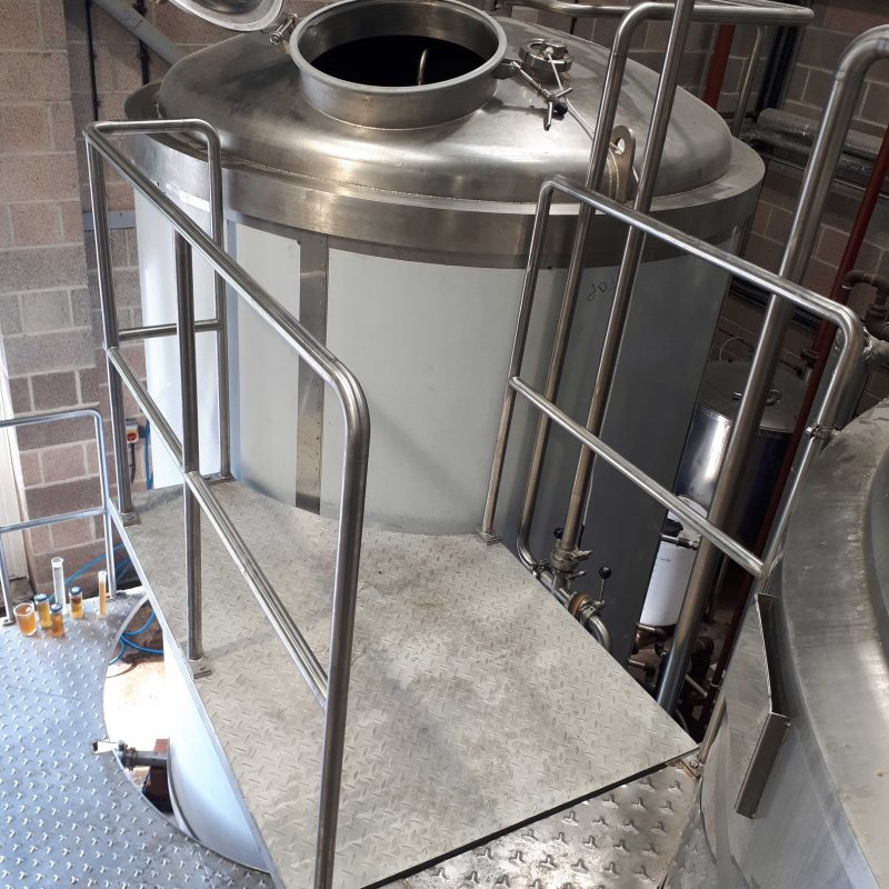 PLATFORM-EXTENSION-RETRO-FIT-FOOD-AND-BEVERAGE-INDUSTRY-STAINLESS-STEEL-deisned-and-retro-fitted-platform-extension-for-access-to-new-brewing-tank