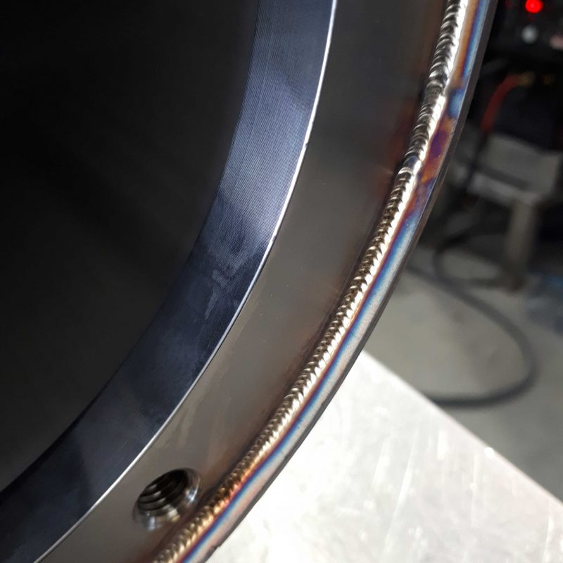 STAINLESS-STEEL-TIG-WELDING-DORCHESTER-DORSET-close-up-shot-of-rings-welded-in-some-1.6mm-thick-wall-tube