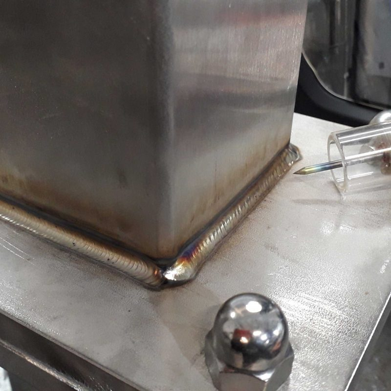 TIG-WELDING-DORCHESTER-DORSET-STAINLESS-STEEL-box-section-frame-work-castor-plate-welding