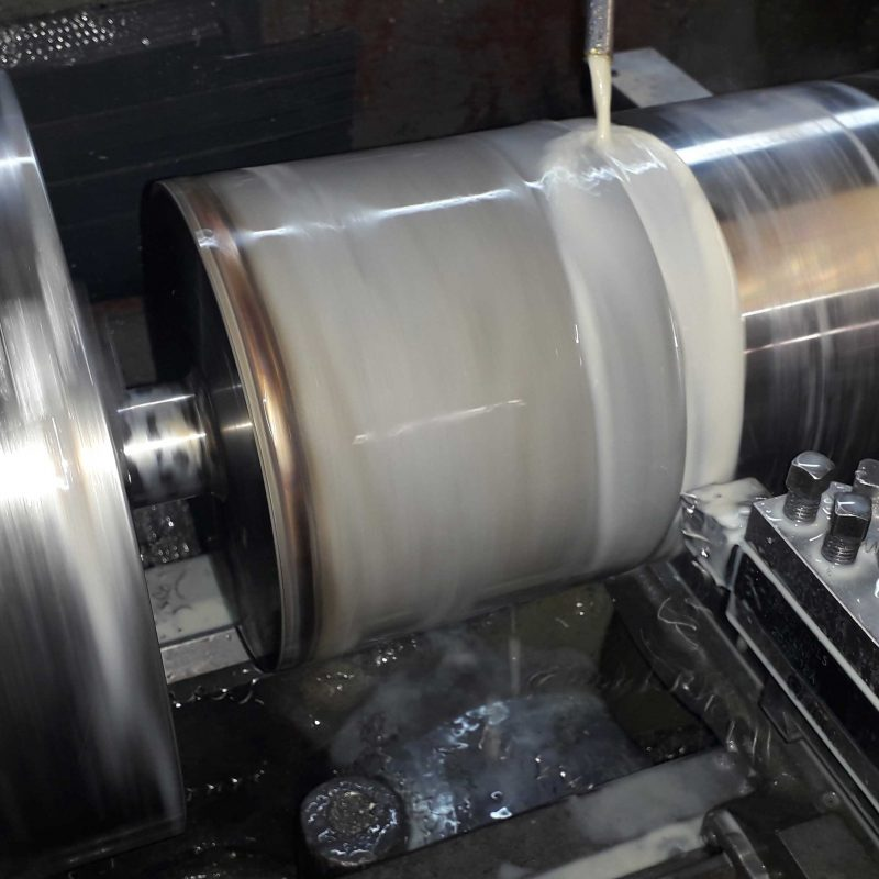 WELDMENT-FABRICATION-AND-MACHINING-TURNING-AND-MILLING-DORCHESTER-turning-down-6.5inch-stainless-steel-roller-weldment